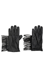 Кожаные перчатки с бахромой - Maison Scotch