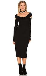 Миди платье с вырезом на плечах - Enza Costa