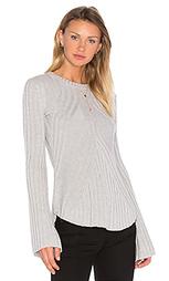 Rib bell sleeve sweater - Autumn Cashmere