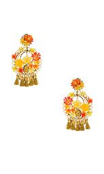 Цветочные серьги с кисточками - Mercedes Salazar