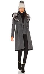 Пальто из лисьего меха mila - Mackage