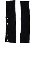 Buttoned rib arm warmers - Autumn Cashmere