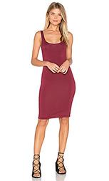 Миди платье с разрезом на лифе сзади - BLQ BASIQ
