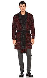 Cardigan with shawl collar and fringes - Scotch & Soda
