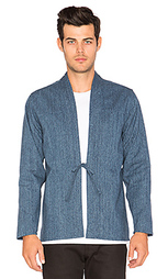 Kimono shirt indigo speckle dye basketweave - Naked & Famous Denim