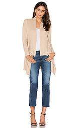 Zip rib drape cardigan - Autumn Cashmere