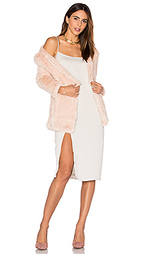 Huxley knitted stretch rabbit fur long cardigan - H Brand