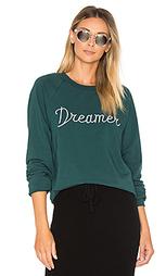 Dreamer embroidery muse slouchy raglan sweatshirt - Spiritual Gangster