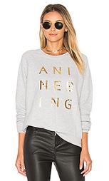Gold print sweatshirt - ANINE BING