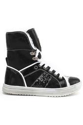 Ботинки школьные утепленные Зебра