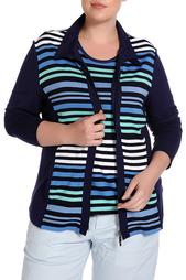 Комплект: кардиган, блуза FIORA BLUE