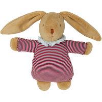 Мягкая игрушка Зайка с кармашком, в полоску, 32см, Trousselier