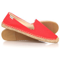 Слипоны женские Soludos Smoking Slipper Linen Coral