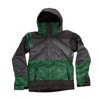 Куртка детская Quiksilver Mission Print Stripe Jolly Green