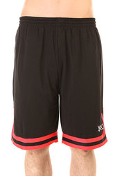 Шорты классические K1X Hardwood Big Hole Mesh Double X Shorts Black/Red