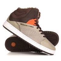 Кеды кроссовки утепленные DC Seneca High Wnt Brown/Grey