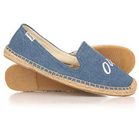 Слипоны женские Soludos Jason Polan For Soludos Collaboration Oui/Non Navy Linen