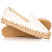 Слипоны женские Soludos Platform Smoking Slipper Leather/White