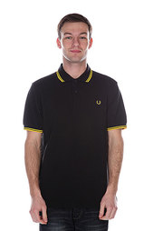 Поло Fred Perry Twin Tipped Shirt Old Black