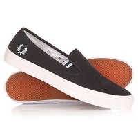 Слипоны Fred Perry Turner Slip On Brushed Cotton Black