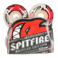 Колеса для скейтборда для скейтборда Spitfire Bighead White/Red 99A 52 mm