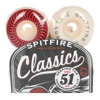 Колеса для скейтборда для скейтборда Spitfire Classic White/Red 99A 51 mm