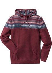 Пуловер Regular Fit с капюшоном (серый меланж) Bonprix