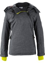 Функциональная куртка с асимметричной застежкой на молнию (синий океан) Bonprix
