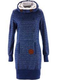 Трикотажное платье (шиферно-серый меланж) Bonprix
