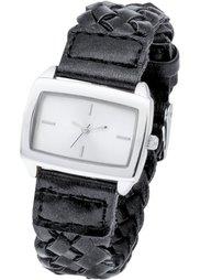Часы на плетеном браслете (коричневый металлик) Bonprix