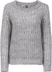 Пуловер с пайетками (розовый/кремовый меланж) Bonprix