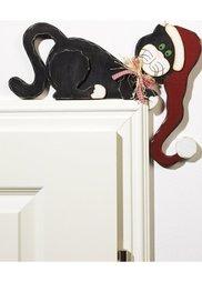 Декоративная фигурка для дверного косяка Кошка (черный/красный/белый) Bonprix
