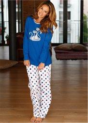 Пижама (синий в горошек) Bonprix