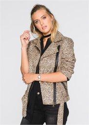 Пиджак леопардовой расцветки (леопардовый черный/светло-кори) Bonprix