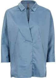 Блуза с эффектом запаха (белый) Bonprix
