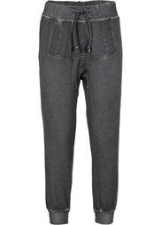 Трикотажные брюки в поношенном стиле (светло-коричневый) Bonprix