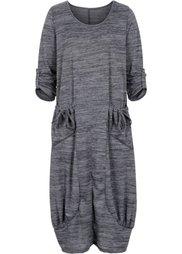 Платье-оверсайз (темно-красный меланж) Bonprix