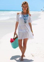 Пляжное платье (белый) Bonprix