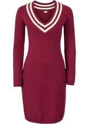 Вязаное платье (ночная синь/кремовый) Bonprix
