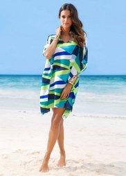 Пляжная туника (зеленый/синий/белый) Bonprix