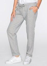Трикотажные брюки с блеском (серый/серебристый) Bonprix