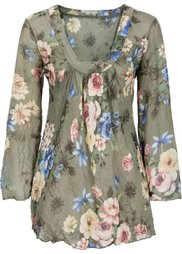 Блузка (синий в цветочек) Bonprix