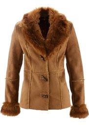 Куртка-дубленка (экрю) Bonprix