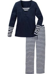 Пижама (цвет белой шерсти/кленово-крас) Bonprix