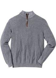 Пуловер Regular Fit с высоким воротом на молнии (темно-синий) Bonprix