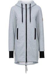 Трикотажная куртка с флисовой отделкой (клубничный) Bonprix
