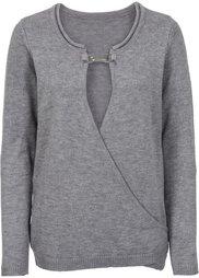 Пуловер с аппликацией (темно-синий) Bonprix