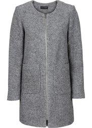 Пальто без воротника (кремовый) Bonprix