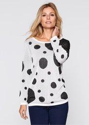 Пуловер (белый/черный) Bonprix