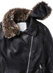 Байкерская куртка из искусственной кожи (черный) Bonprix